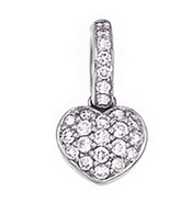 Aaron Basha 18K White Gold Black with Red Flowers Flower