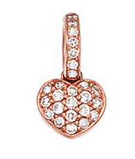 Aaron Basha 18K Rose Gold Pave Heart (Small)