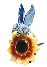 Herend Bluebird On Sunflower