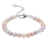Honora Girls Pearl Bracelet Multicolored Freshwater Pearls