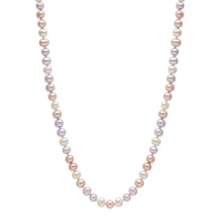 Honora Ladies Pearl Necklace Multicolored Freshwater Pearls