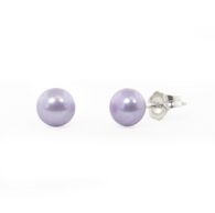 Honora Girls Pearl Earrings Freshwater Pearls in Violet