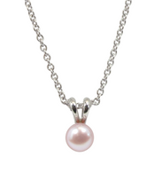 Honora Girls Pearl Pendant Necklace Freshwater Pearls in Blush Pink