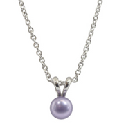 Honora Girls Pearl Pendant Necklace Freshwater Pearls in Violet