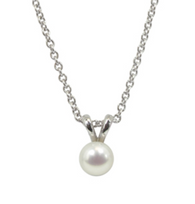 Honora Girls Pearl Pendant Necklace Freshwater Pearl in White