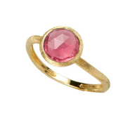 Marco Bicego Jaipur Collection 18kt gold and pink tourmaline  Elegant Cocktail Ring Pink Ring Gold ring with Pink stone
