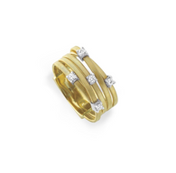 Marco Bicego Goa Collection Five Strand Ring with Diamonds by Marco Bicego