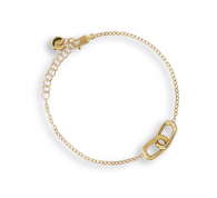 Marco Bicego Delicati Bracelet in 18k yellow gold with rectangle links.