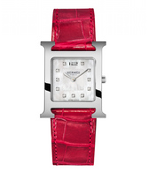 Hermes H Watch with alligator band