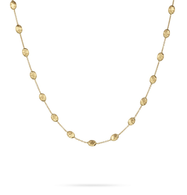 Marco Bicego Jaipur Medium Bead 18K yellow gold necklace.