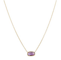 Marco Bicego Delicati Amethyst yellow gold necklace