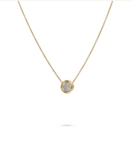 Marco Bicego Delicati Yellow Gold pendant Necklace with diamonds.