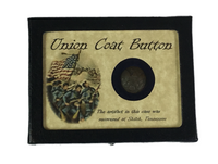 Authentic Civil War Relic Original Union Coat Button with Display Case and COA