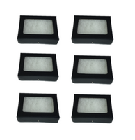 6 Pack of Riker Display Cases 2 x 3 1/2 x 3/4 for Collectibles Jewelry & More