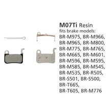 Shimano BR-M975 Disc Brake Pads 1PR M07-Ti Resin