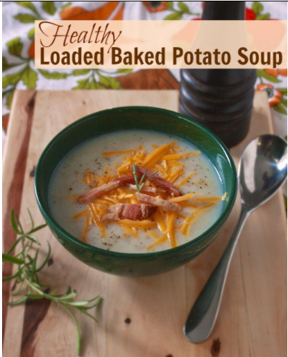 Healthy Loaded Baked Potato Soup
