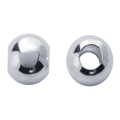 Spacer beads shown front and side view.