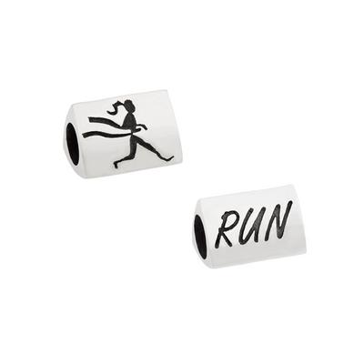 3 sided Runner Girl Bead