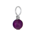 Purple amethyst gemstone.