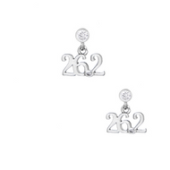 26.2 Scripted Cubic Zirconia post earrings