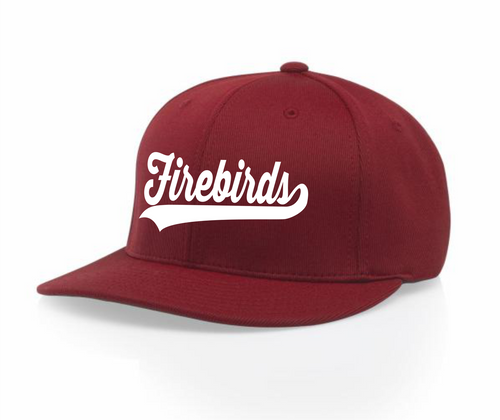 RED WITH FIREBIRDS LOGO