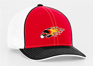 CHAPARRAL BASEBALL RED/BLACK PACIFIC HAT WITH EMBROIDERED BIRD LOGO