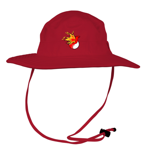 RED BOONIE HAT WITH LOGO 1