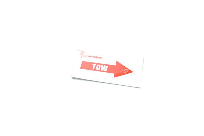 Hard Motorsport Tow Hook Arrow Sticker