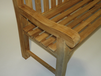Teak Heavy Duty Arch back Bench 120cm Arm.