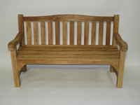 Teak Heavy Duty Arch back Bench 120cm