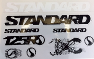 Standard 125R Series Frame Stickers