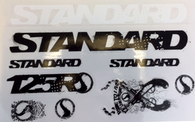 Standard 125R Series Frame Stickers