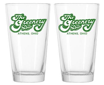 The Greenery Pint Glasses