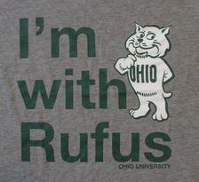 I'm With Rufus Ohio University t-shirt, detail
