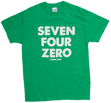 Seven Four Zero (740) Athens Ohio Area Code T-Shrit