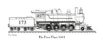 Train - Dixie Flyer 1901 Engine Only Black & White