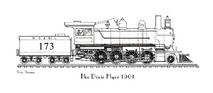 PP Train - Dixie Flyer 1901 Engine Only Black & White