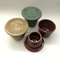 Butter keepers shown in oatmeal, turquoise and burgundy.