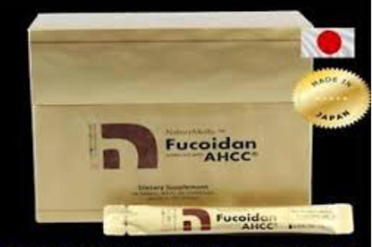 BEST FUCOIDAN AHCC By NATURE MEDIC LIQUID (50 Packs) Versus UMI NO SHIZUKU