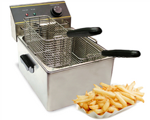 Countertop Commercial Electric Deep Fryer with 2 Baskets