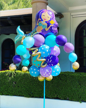 Mermaid Balloon Bouquet Pole