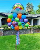 Rainbow Balloon Bouquet Pole