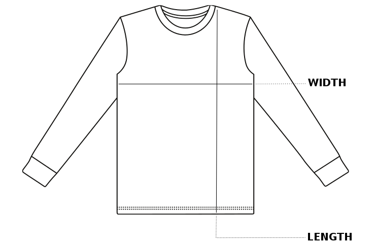 Enkalda Heavyweight T-Shirt Size Chart