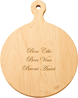 """16""""Round Artisan Cutting Board from Maple Leaf at Home"""
