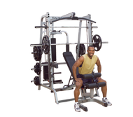 (BUNDLED PACKAGE) Body Solid Series 7 Smith Gym with 300 Pound Olympic Grip Set