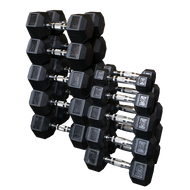 Body Solid Rubber Hex Dumbbell Set 5# - 120#