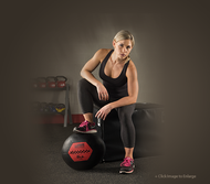 Body Solid Wall Ball Fitness Trio 14, 16, 18 Lbs