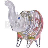 "ANIMAL HAND PIPE ELEPHANT SITTING LINEAR DESIGNS 6"" ASSORTED COLORS"