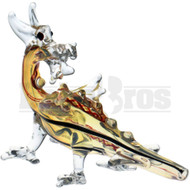 "ANIMAL HAND PIPE DRAGON FACING BACKWARDS 5"" ASSORTED COLORS"
