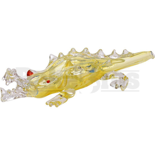 """ANIMAL HAND PIPE ANGRY ALLIGATOR ON LAND 6"""" ASSORTED COLORS"""